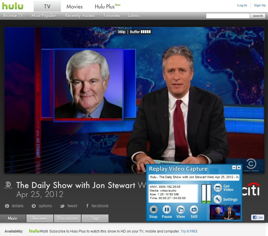 Record Hulu videos1 Online Video Recorder Pick: Replay Video Capture
