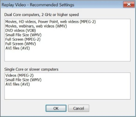 Replay Video Capture settings box1 Webinar Software: Recording Tips