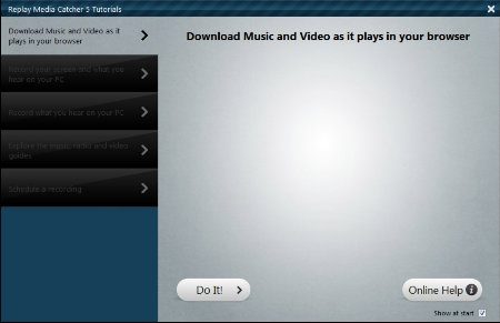 RMC 5 tutorial screen Download Streaming Videos with Replay Media Catcher