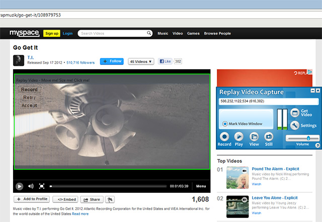 record mysapce videos 2 MySpace Downloader for Videos